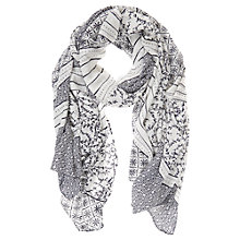 Buy Mint Velvet Valencia Scarf, Ivory Online at johnlewis.com