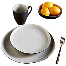 Buy west elm Crackle 28cm Dinner Plate, Grey Online at johnlewis.com