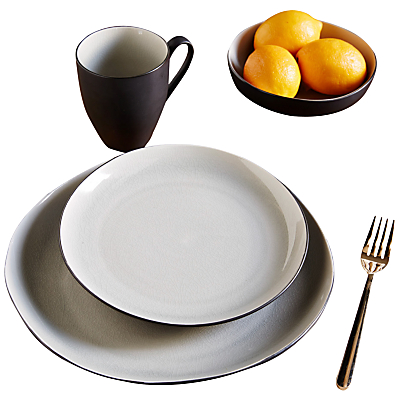 Image of west elm Crackle 22cm Salad Plate, Grey