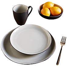 Buy west elm Crackle 22cm Salad Plate, Grey Online at johnlewis.com