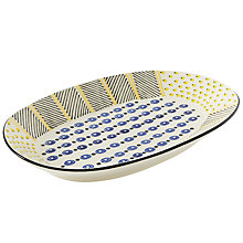 Buy west elm Potter's Workshop Large Serving Platter, Blue / Yellow Online at johnlewis.com