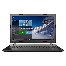 "Buy Lenovo IdeaPad 100 Laptop, Intel Core i3, 4GB RAM, 1TB, 15.6"", Black Online at johnlewis.com"