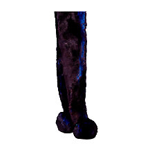 Buy Ted Baker Neola Pom Pom Faux Fur Scarf, Purple/Bright Blue Online at johnlewis.com