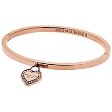 Buy Michael Kors Heart Bangle Online at johnlewis.com