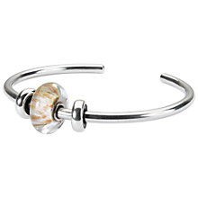 Buy Trollbeads Wind of the World Sterling Silver Italian Glass Charm Bangle, Silver Online at johnlewis.com