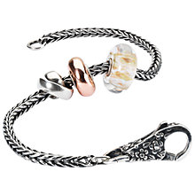 Buy Trollbeads Wind of the World Sterling Silver Italian Glass Charm Bracelet, Silver Online at johnlewis.com
