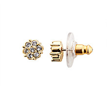 Buy Cachet Gold Plated Swarovski Crystal Stud Earrings, Gold Online at johnlewis.com