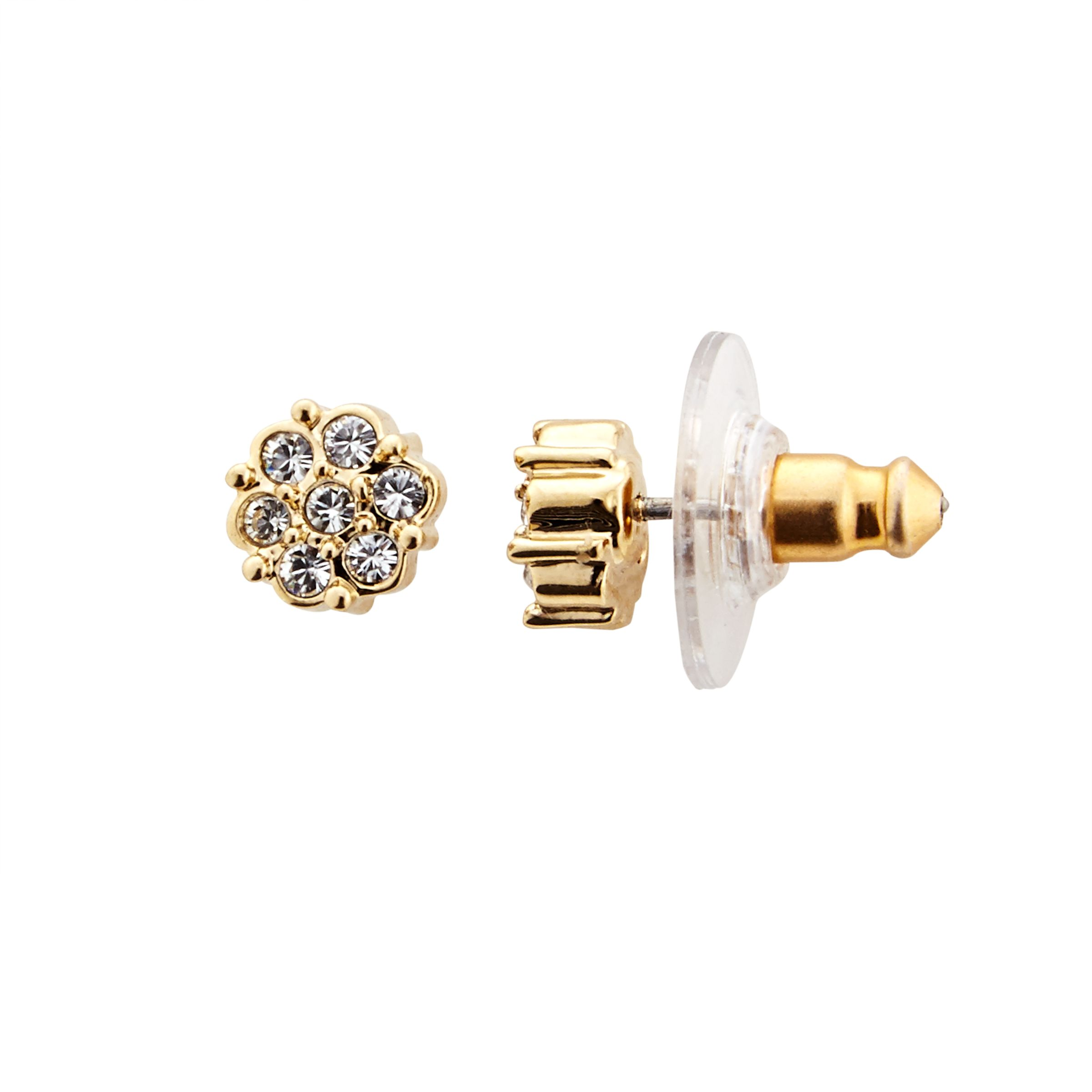 Cachet Cachet Gold Plated Swarovski Crystal Stud Earrings, Gold
