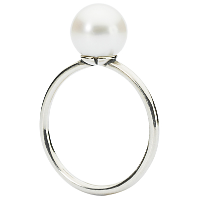 Trollbeads Freshwater Pearl Ring, Silver/White