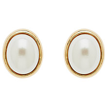 Buy Finesse Oval Pearl Stud Earrings Online at johnlewis.com