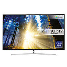"Buy Samsung UE55KS8000 SUHD HDR 1,000 4K Ultra HD Quantum Dot Smart TV, 55"" with Freeview HD  + Bluetooth Sound Bar & Wireless Subwoofer Online at johnlewis.com"
