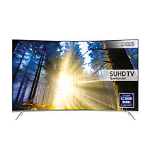 "Buy Samsung UE49KS7500 Curved SUHD HDR 1,000 4K Ultra HD Quantum Dot Smart TV, 49"" with Freeview HD/Freesat HD, Playstation Now & Branch Feet Design, UHD Premium Online at johnlewis.com"