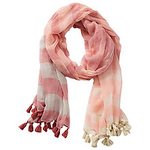 Buy Betty & Co. Square Scarf, Raspberry Red Online at johnlewis.com