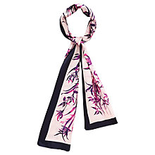 Buy Viyella Floral Silk Scarf, Navy Online at johnlewis.com
