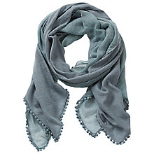 Buy Betty & Co. Square Crochet Scarf, Smoky Blue Online at johnlewis.com