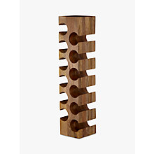 Buy John Lewis Mango Wood 12 Bottle Wine Rack Online at johnlewis.com