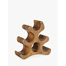 Buy John Lewis Mango Wood 6 Bottle Wine Rack Online at johnlewis.com