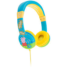 Buy Kondor Peppa Pig Muddy Puddles On Ear Headphones Online at johnlewis.com