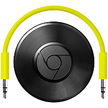 Buy Google Chromecast Audio, Black Online at johnlewis.com