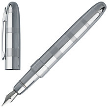 Buy Hugo Boss Rise Fountain Pen, Chrome Online at johnlewis.com