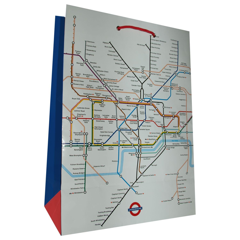 Rachel Ellen Rachel Ellen London Underground Gift Bag, Medium