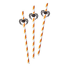 Buy Ginger Ray Paper Spider Straws, Pack of 16, Orange Online at johnlewis.com