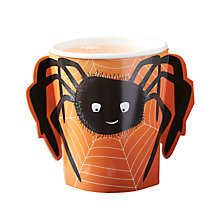Buy Ginger Ray Spider Paper Cups, Orange Online at johnlewis.com