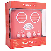 Buy Sunnylife Beach Sounds Radio, Green Online at johnlewis.com