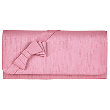Buy Jacques Vert Layered Bow Trim Clutch Bag, Mid Pink Online at johnlewis.com