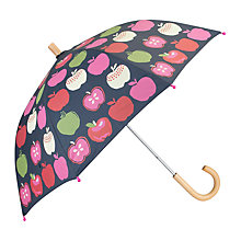Buy Hatley Children's Nordic Apples Umbrella, Blue/Multi Online at johnlewis.com