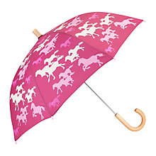 Buy Hatley Children's Running Horses Umbrella, Pink Online at johnlewis.com