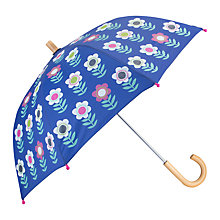 Buy Hatley Children's Nordic Flowers Umbrella, Blue Online at johnlewis.com