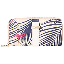Buy Nica Chloe Palm Print Large Zip Around Purse, Multi Online at johnlewis.com