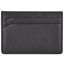 Buy HUGO by Hugo Boss Subway Smooth Leather Card Holder, Black Online at johnlewis.com