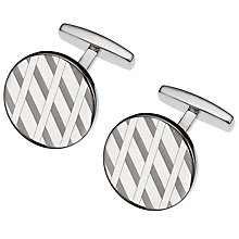 Buy BOSS Manuel Circle Cufflinks, Silver Online at johnlewis.com