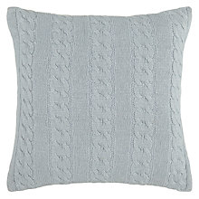 Buy John Lewis Croft Collection Cashmere Blend Cable Knit Cushion, Slate Online at johnlewis.com