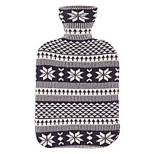 Buy John Lewis Fair lsle Hot Water Bottle, Cream/Blue Online at johnlewis.com