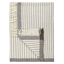 Buy John Lewis Croft Collection Textured Stripe Throw Online at johnlewis.com