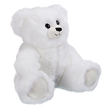 Buy John Lewis Faux Fur Teddy Bear, White Online at johnlewis.com