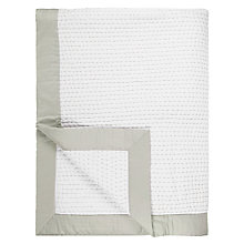 Buy John Lewis Lydia Stitch Throw, White Online at johnlewis.com