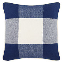 Buy John Lewis Big Check Sherpa Cushion Online at johnlewis.com