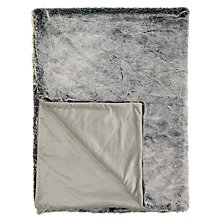 Buy John Lewis Faux Fur Throw, L200 x W150cm Online at johnlewis.com