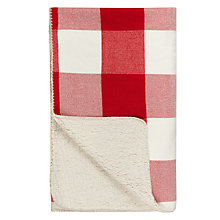 Buy John Lewis Big Check Sherpa Throw Online at johnlewis.com