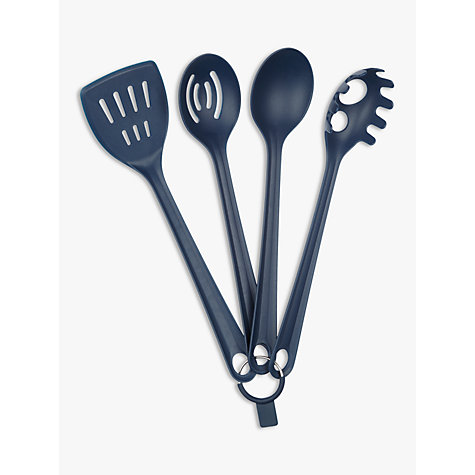 Buy House By John Lewis Kitchen Utensils Set Of 4 Navy John Lewis