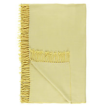 Buy House by John Lewis Plain Fringed Throw Online at johnlewis.com