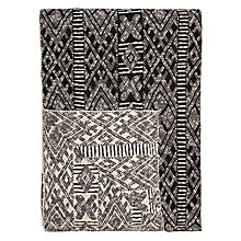 Buy John Lewis Bernard Throw, Black / White Online at johnlewis.com