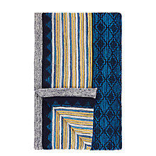 Buy John Lewis Navajo Throw, Agate Blue Online at johnlewis.com