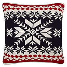 Buy John Lewis Chamonix Fair Isle Knit Cushion, Multi Online at johnlewis.com