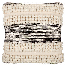Buy John Lewis Faro Cushion, Black / White Online at johnlewis.com