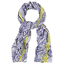 Buy White Stuff Mexican Leaf Embroidered Scarf, Multi Online at johnlewis.com